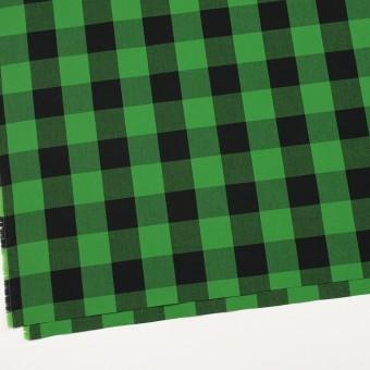 コットン×チェック(グリーン&ブラック)×高密ブロード サムネイル2