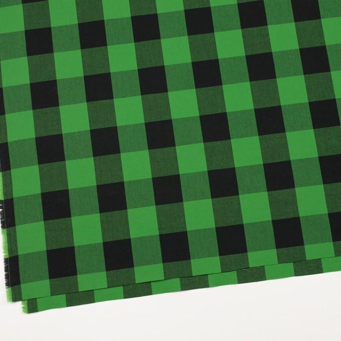 コットン×チェック(グリーン&ブラック)×高密ブロード イメージ2