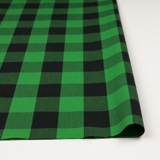 コットン×チェック(グリーン&ブラック)×高密ブロード イメージ3