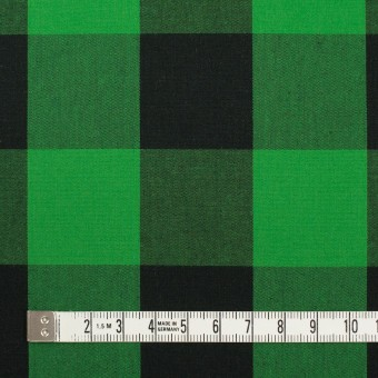 コットン×チェック(グリーン&ブラック)×高密ブロード サムネイル4