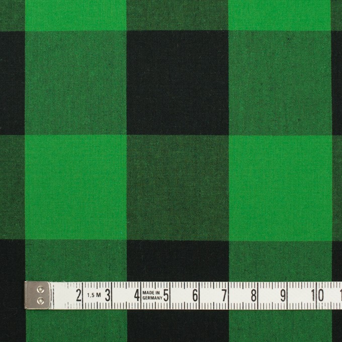 コットン×チェック(グリーン&ブラック)×高密ブロード イメージ4