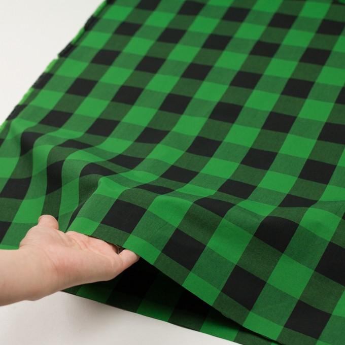 コットン×チェック(グリーン&ブラック)×高密ブロード イメージ5