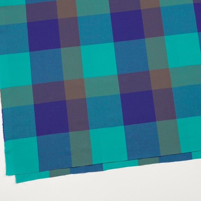 コットン×チェック(エメラルドグリーン&グレープ)×ブロード イメージ2
