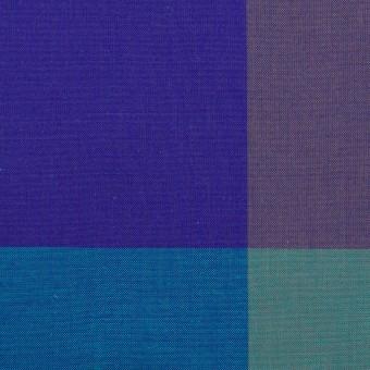 コットン×チェック(エメラルドグリーン&グレープ)×ブロード サムネイル1