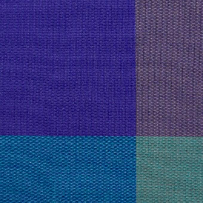 コットン×チェック(エメラルドグリーン&グレープ)×ブロード イメージ1