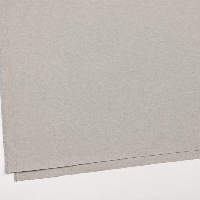 コットン×無地(ライトグレー)×オックスフォード_イタリア製 イメージ2