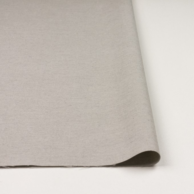 コットン×無地(ライトグレー)×オックスフォード_イタリア製 イメージ3