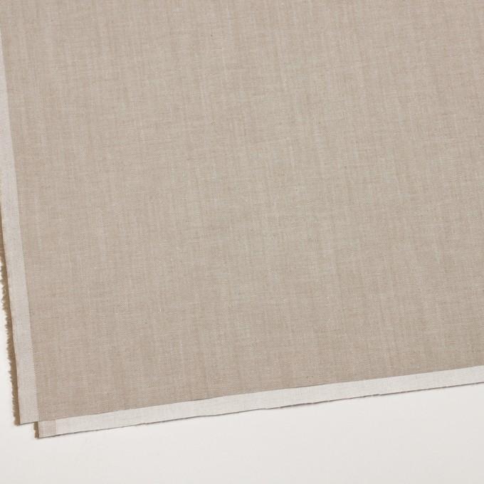 コットン&ポリエステル混×無地(カーキベージュ)×サージストレッチ_イタリア製 イメージ2