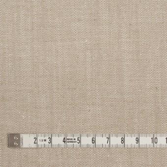 コットン&ポリエステル混×無地(カーキベージュ)×サージストレッチ_イタリア製 サムネイル4