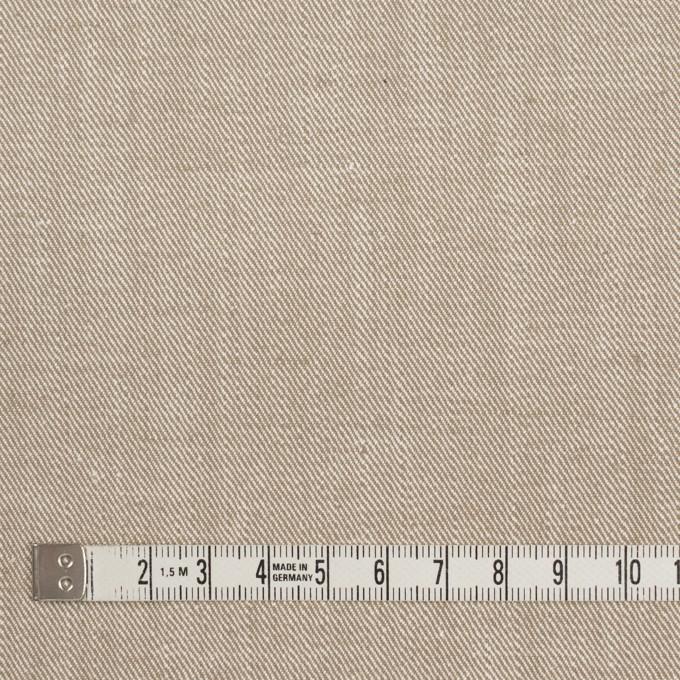 コットン&ポリエステル混×無地(カーキベージュ)×サージストレッチ_イタリア製 イメージ4