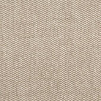 コットン&ポリエステル混×無地(カーキベージュ)×サージストレッチ_イタリア製 サムネイル1