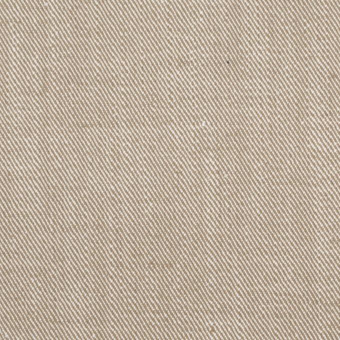 コットン&ポリエステル混×無地(カーキベージュ)×サージストレッチ_イタリア製 イメージ1