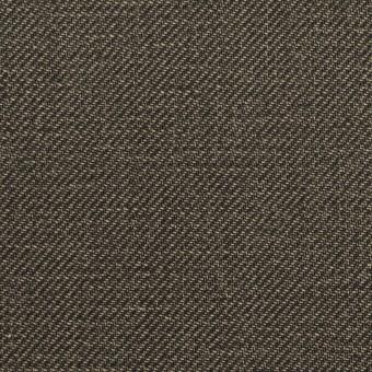 コットン×無地(チャコール)×サージ_イタリア製 サムネイル1