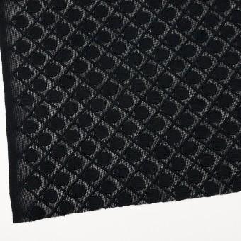 コットン×幾何学模様(ブラック)×ケミカルレース サムネイル2