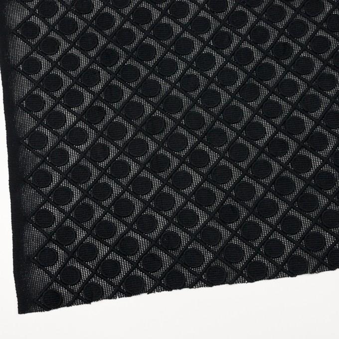 コットン×幾何学模様(ブラック)×ケミカルレース イメージ2