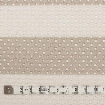 コットン×ボーダー(キナリ&ベージュ)×ローン刺繍 サムネイル4