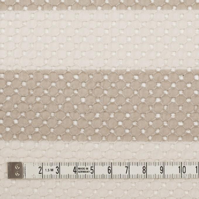 コットン×ボーダー(キナリ&ベージュ)×ローン刺繍 イメージ4