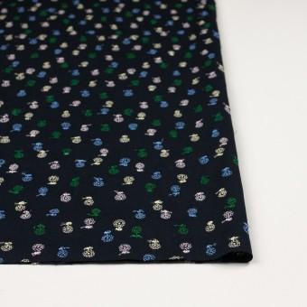 コットン×フラワー(ダークネイビー)×ローン刺繍 サムネイル3