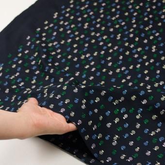 コットン×フラワー(ダークネイビー)×ローン刺繍 サムネイル5