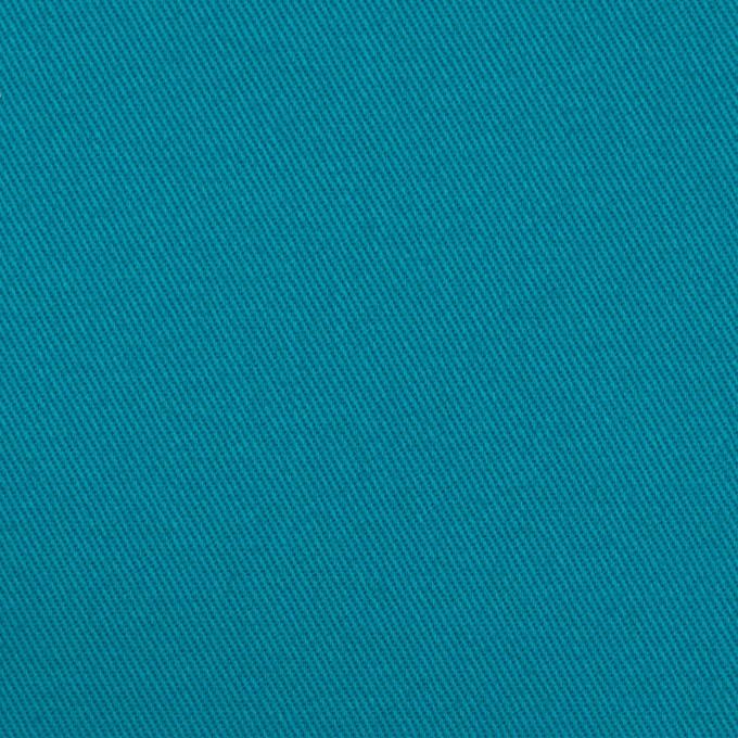コットン×無地(ターコイズブルー)×チノクロス イメージ1