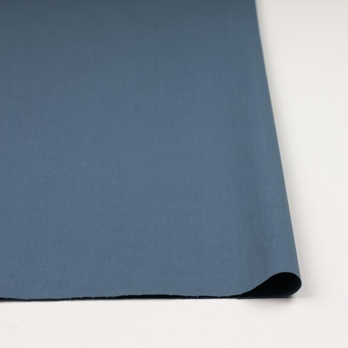 コットン&ポリウレタン×無地(ブルーグレー)×ギャバジンストレッチワッシャー_イタリア製 イメージ3