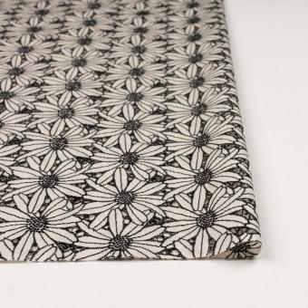 コットン×フラワー(キナリ&ブラック)×ローン刺繍 サムネイル3