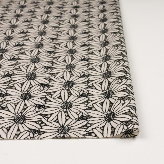 コットン×フラワー(キナリ&ブラック)×ローン刺繍 イメージ3