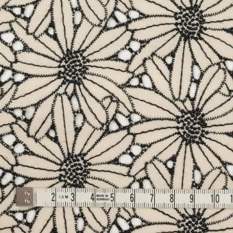 コットン×フラワー(キナリ&ブラック)×ローン刺繍 サムネイル4