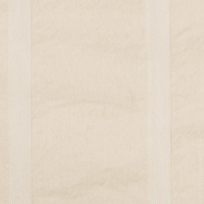コットン×ストライプ(キナリ)×シーチング&サージ イメージ1