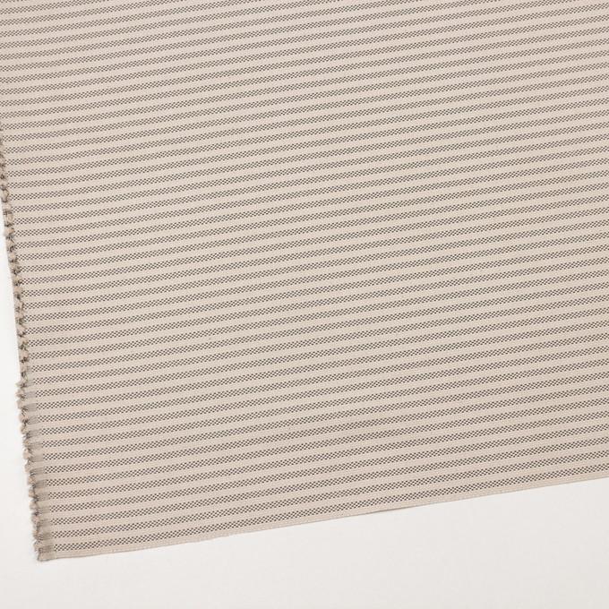 コットン&ナイロン×ボーダー(キナリ&ブラック)×斜子織 イメージ2