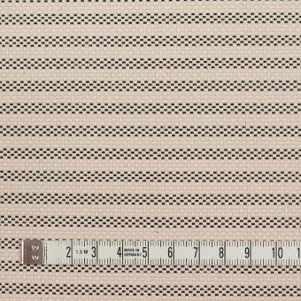 コットン&ナイロン×ボーダー(キナリ&ブラック)×斜子織 サムネイル4