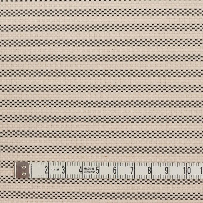 コットン&ナイロン×ボーダー(キナリ&ブラック)×斜子織 イメージ4