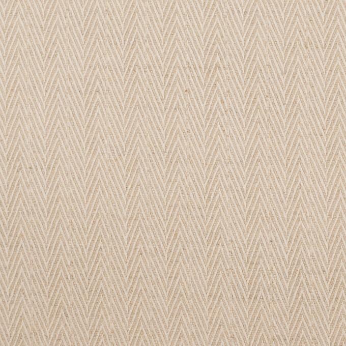 コットン&リネン×無地(キナリ)×ヘリンボーン イメージ1