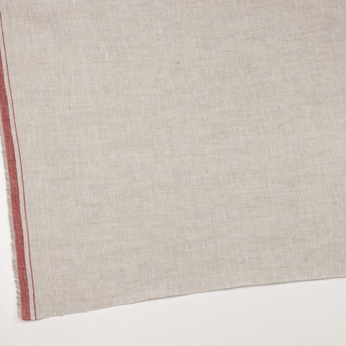 リネン×無地(グレイッシュベージュ&レッド)×薄キャンバス_全2色 イメージ2