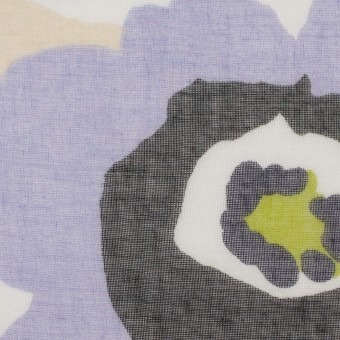 ポリエステル×フラワー(グレープ&イエローグリーン)×ボイル_全2色 サムネイル1