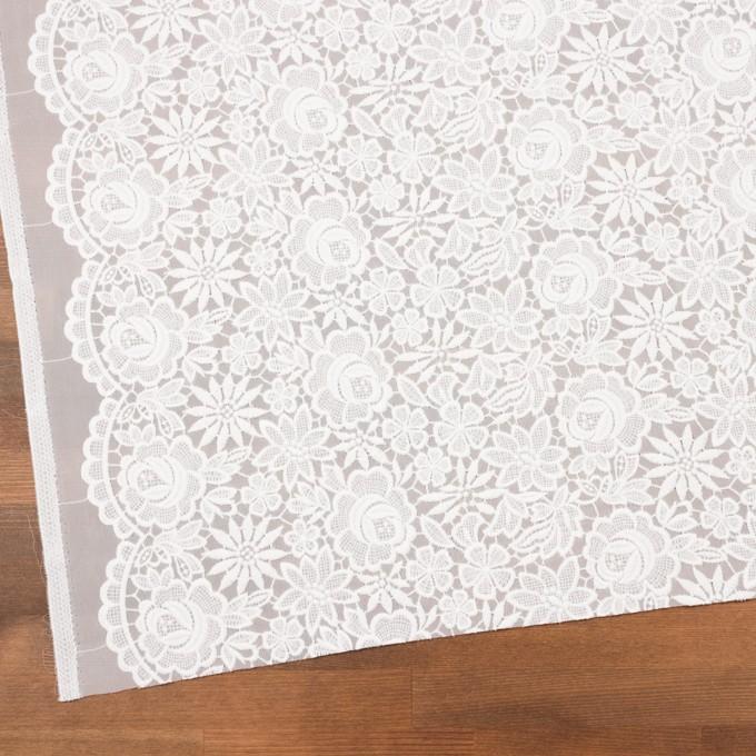 ポリエステル×フラワー(オフホワイト)×ジョーゼット刺繍 イメージ2