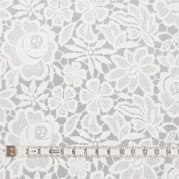 ポリエステル×フラワー(オフホワイト)×ジョーゼット刺繍 イメージ4