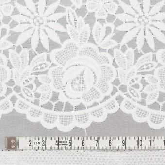 ポリエステル×フラワー(オフホワイト)×ジョーゼット刺繍 サムネイル5