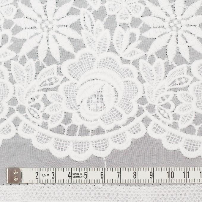 ポリエステル×フラワー(オフホワイト)×ジョーゼット刺繍 イメージ5