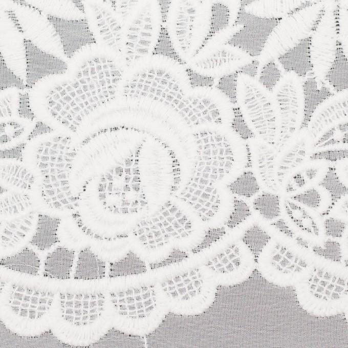 ポリエステル×フラワー(オフホワイト)×ジョーゼット刺繍 イメージ1
