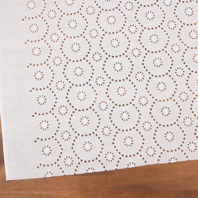 コットン×フラワー(ホワイト)×ローン刺繍_全3色 イメージ2