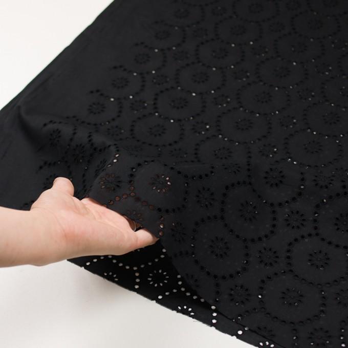 コットン×フラワー(ブラック)×ローン刺繍_全3色 イメージ5