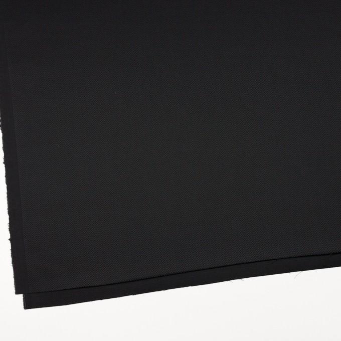 コットン&ポリウレタン×無地(ブラック)×かわり織ストレッチ イメージ2
