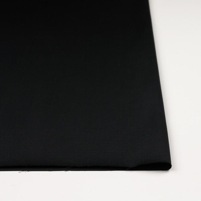コットン&ポリウレタン×無地(ブラック)×かわり織ストレッチ イメージ3