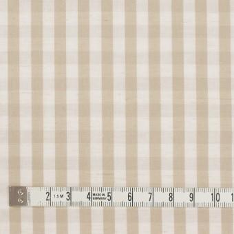 コットン&リネン×チェック(キナリ&ベージュ)×ポプリンワッシャー サムネイル4