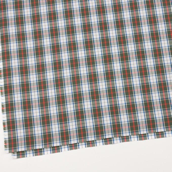 コットン×チェック(カーキグリーン&レッド)×ブロード イメージ2