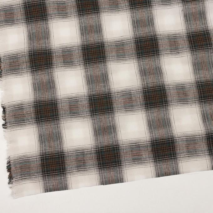 コットン×チェック(キナリ&チャコール)×シーチング イメージ2
