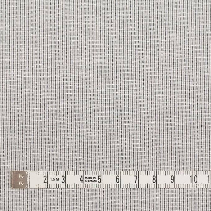 コットン&リネン×ストライプ(グレー)×ローン_全2色 イメージ4