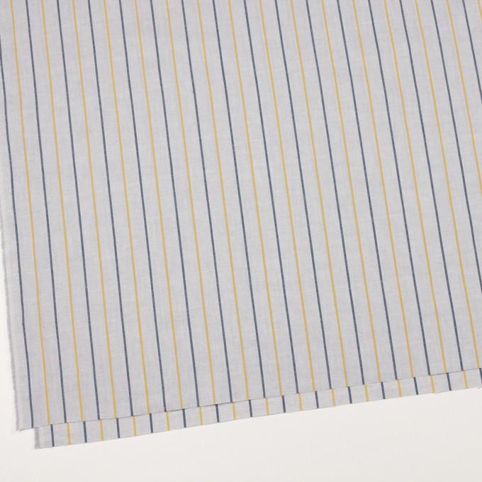 コットン×ストライプ(ライトグレー、イエロー&ネイビー)×オックスフォード イメージ2