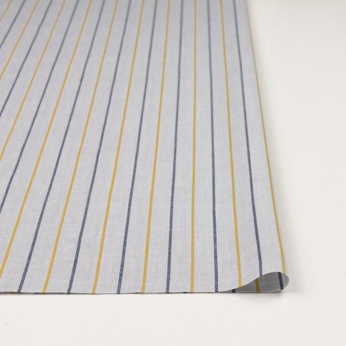 コットン×ストライプ(ライトグレー、イエロー&ネイビー)×オックスフォード イメージ3